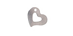 Stainless Steel Open Heart Charm 15x13mm