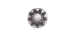 Zola Elements Antique Silver (plated) Radiant Round Bezel 7mm Flat Cord Slide 13mm