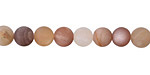 Peach Moonstone (matte-multi) Round 6mm