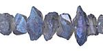 Smoke & Metallic Blue Luster Quartz Shards 5-12x10-30mm
