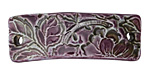 Earthenwood Studio Ceramic Amethyst Floral Scroll Bracelet Bar 44-46x15-16mm