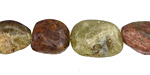 Green Garnet Polished Pebble 11-20x10-13mm