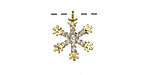 Gold (plated) & Crystal Studded Snowflake Pendant 13.5x17mm
