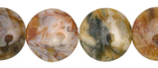 Russian Lace Agate Puff Coin 20mm