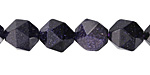 Blue Goldstone Star Cut Round 12mm