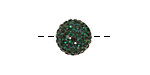 Emerald Pave Round 12mm