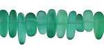 Emerald Recycled Glass Pebble Stick 3-6x7-18mm