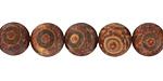 Tibetan (Dzi) Agate (rust) Matte Round 10mm