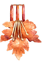 Patricia Healey Copper Embellished Maple Leaf 20mm Cord Slide 51x65mm