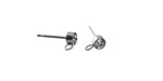 Stainless Steel Post Earring w/ CZ Setting 4mm