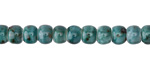 Turquoise w/ Speckles Porcelain Tumbled Rondelle 5x7mm