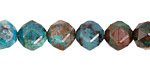 Chrysocolla (A) Diamond Cut Faceted Round 10mm