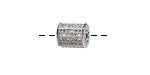 Silver (plated) CZ Micro Pave Lantern 9x7mm