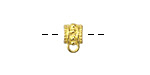 Zola Elements Antique Gold (plated) Ornate Beaded Slide Bail 6.5x10mm