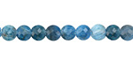 Pacific Blue Apatite Faceted Puff Coin 6mm