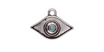 Zola Elements Antique Silver (plated) Evil Eye w/ Resin Turquoise Focal 21x15mm