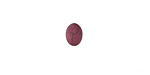 Matte Ruby Resin Oval Cabochon 6x8mm