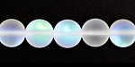 Clear Fused Glass AB (matte) Round 10mm