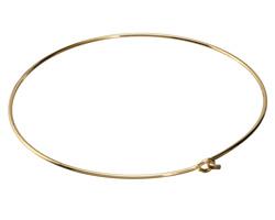 Gold (plated) Simple Neck Collar w/ Flat Hook & Eye Closure 12 gauge