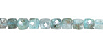 Apatite Small Faceted Cube 5mm