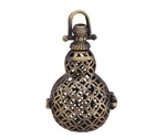 Antique Brass (plated) Gourd Diffuser Locket 25x43mm