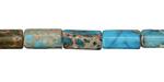 Ocean Blue Impression Jasper Tube 12x6mm
