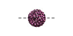 Amethyst Pave (w/ Preciosa Crystals) Round 12mm