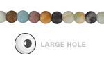 Black Gold Amazonite (Matte) Round (Large Hole) 6mm