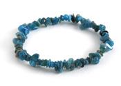 Pacific Blue Apatite Chips Stretch Bracelet