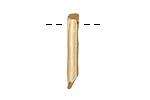 Zola Elements Matte Gold (plated) Quartz Point Drop 3x26mm
