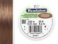 "Beadalon Bronze .020"" 7 Strand Wire 30ft."