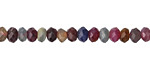 Multi Stone (Ruby & Sapphire) Faceted Rondelle 3x5mm