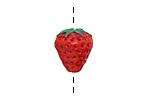 Grace Lampwork Strawberry Focal 10x16mm