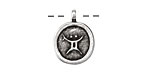 Greek Pewter Taurus Pendant 15x18mm