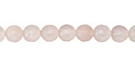 Rose Quartz Faceted Round 6mm