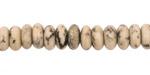 Sesame Jasper Rondelle 9mm