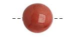 Tagua Nut Rhubarb Round 20mm