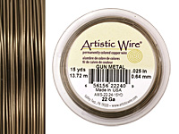Artistic Wire Antique Brass 22 gauge, 15 yards