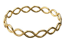 Gold (plated) Lattice Bangle Bracelet 69mm