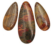 Red Creek Jasper Teardrop Pendant Set 20x50mm, 15x35mm