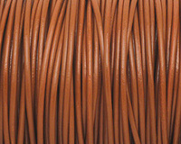 Light Brown Round Leather Cord 2mm