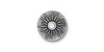 TierraCast Antique Silver (plated) Starburst w/ Crystal Button 15mm