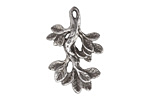 Green Girl Pewter Leafy Branch Pendant 24x35mm