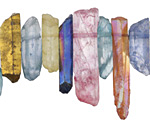 Multi Color Luster Crystal Points Focal Set 4-10x17-40mm