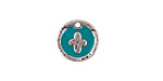 Zola Elements Turquoise Enamel Antique Silver (plated) Cross Coin Focal 13mm