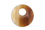 Carnelian (natural) Off Center Donut 25mm