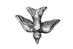 Green Girl Sterling Silver Gliding Bird Charm 33x27mm