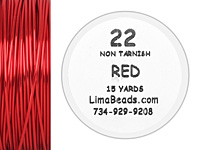 Parawire Red 22 Gauge, 15 Yards