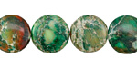 Emerald Impression Jasper Puff Coin 14mm
