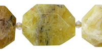 Yellow Opal Faceted Flat Slab 35-38x26-28mm